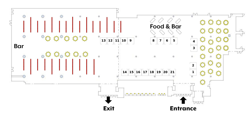 SPSP2018 Exhibit Hall Floor Plan