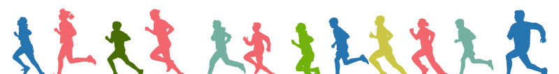 Illustration of people running