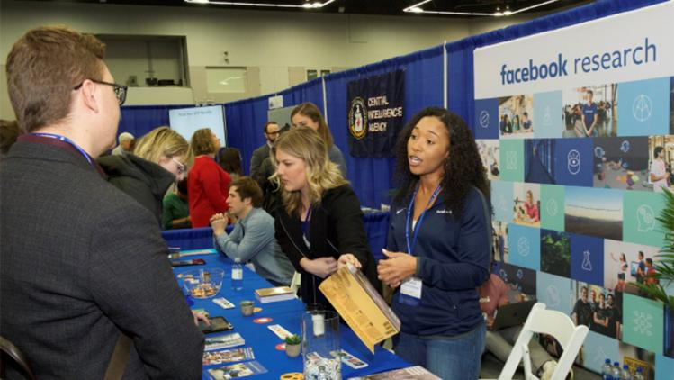 Facebook Research booth at the SPSP convention