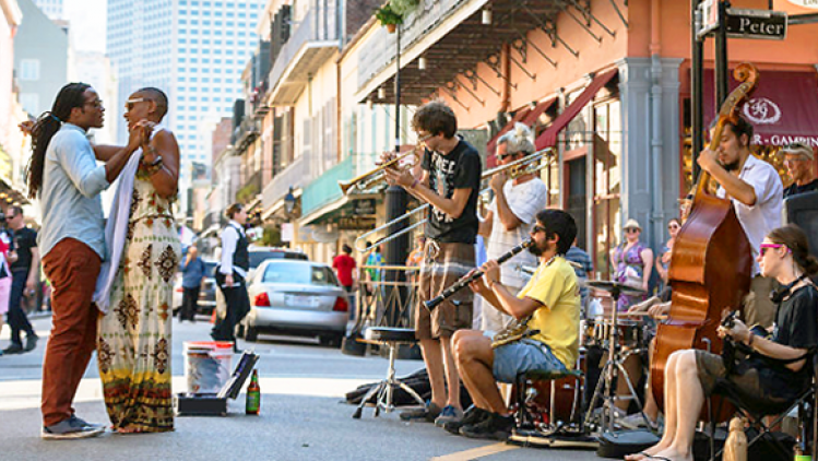 Royal Street buskers in New Orleans photo by Zack Smith
